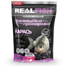 Прикормка Real Fish Карась Малина 1 кг