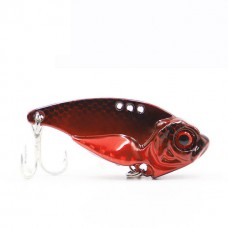 Блесна 3D EyesMetal Vib Blade red 7г
