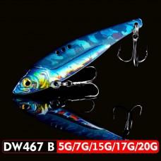 Блесна 3D EyesPencil Vib Blade DW467B 17г